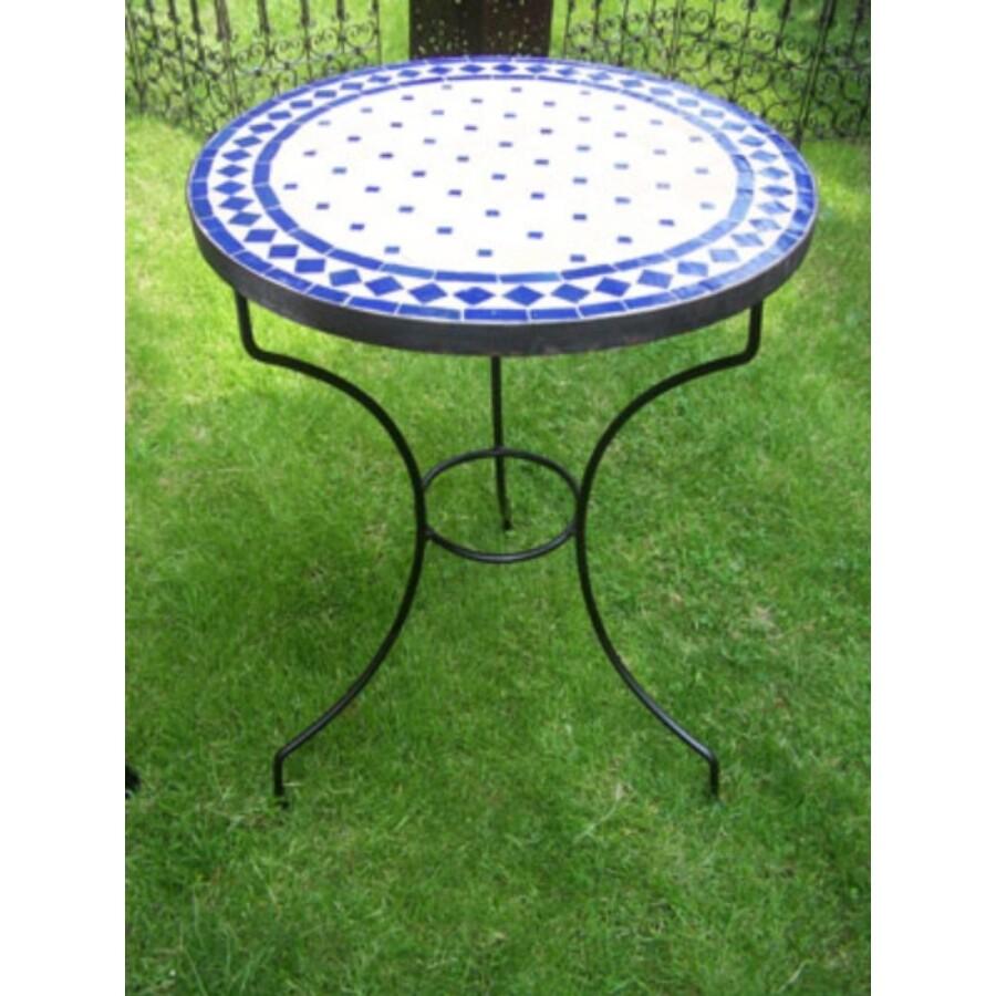 Marrakeshi mozaik asztal kék/natúr