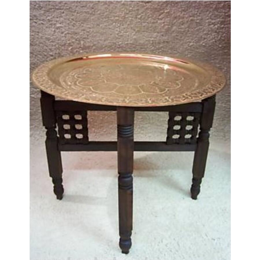 Mehdia marokkói teázó asztal arany színben 60 cm