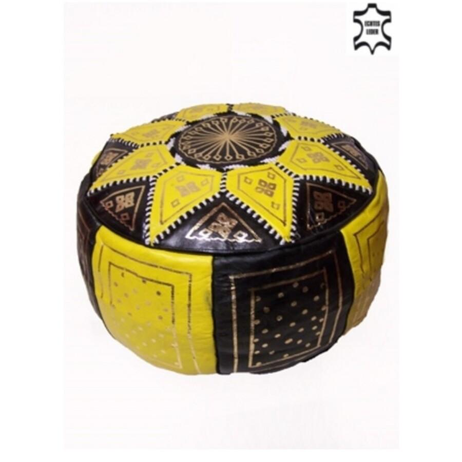 Merzougha marokkói bőr puff, ülőpárna
